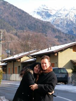 Frank Lamphere and wife Daniela in Lombardia Italia