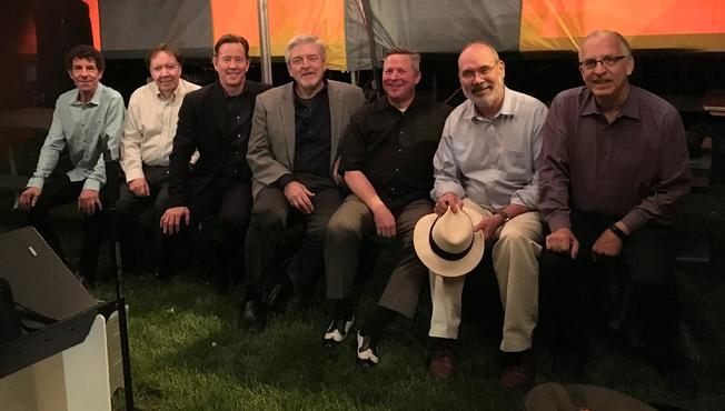 "Frank Lamphere and his ""powerful"" six piece band at the Ottawa Two Rivers Wine and Jazz Fest 2018"